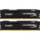16GB (2x8GB) DDR4/2400 KINGSTON HX424C15FB2K2/16, HyperX FURY Black, kit
