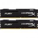 16GB (2x8GB) DDR4/2400 KINGSTON HX424C15FB2K2/16, HyperX FURY Black, kit