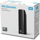 "HDD External 8TB Western Digital Elements WDBWLG0080HBK-EESN, USB 3.0, 3.5"", black"