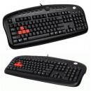 Tastatura A4 TECH KB-28G, gaming tastatura, gumirani i obojeni tasteri W, A, S, D; PS/2