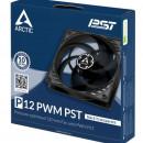 Ventilator za kućište Arctic P12 PWM PST , 12cm, 4 pin, black/transparent, ACFAN00134A