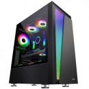 Kućište MS ARMOR V715, Tempered glass, front RGB panel, bez ventilatora, 2 x USB 3.0, bez napajanja