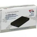 HDD rack LC POWER LC-25U3-Diadem, 2.5″, SATA, USB 3.0, HDD height 12.5 mm, aluminium, black