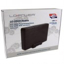 "HDD rack LC POWER LC-35U3-Hydra, 3.5"", SATA, USB3.0, Black, aluminium / plastic"