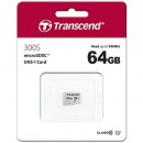 Micro SD 64GB TRANSCEND 300S, TS64GUSD300S, UHS-I, class 10, 95/45 MB/s