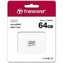 Micro SD 64GB TRANSCEND 300S, TS64GUSD300S, UHS-I, class 10, 95/45 MB/s
