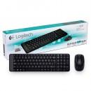 Tastatura + miš LOGITECH MK220 Wireless Combo, USB, US, compact, Black