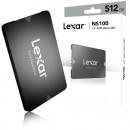 "SSD 512GB LEXAR NS100, 2.5"", up to 550MB/s Read and 450 MB/s write, SATA 3"