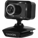 Web Camera CANYON CNE-CWC1, 1.3 Mpixel, Built-in microphone, USB 2.0, Black