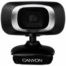 Web Camera CANYON CNE-CWC3, 2.0 Mpixel (Full HD), 360 rotary view scope, Built-in microphone, USB 2.0, Black/Silver, Mac compatibile