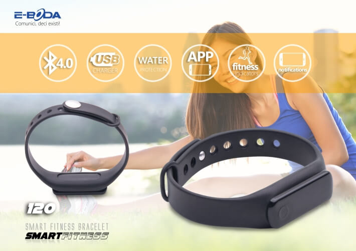 Bratara Bluetooth SmartFitness 120 HR