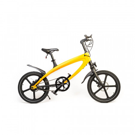 Bicicleta Electrica FreeWheel E-Bike Revo - Galben Autonomie 50-60 km Viteza 25 km/h Motor 240W Brushless