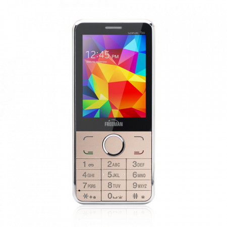 Telefon mobil barphone Freeman speak 2.8 inch T303 DUAL SIM - auriu - Produs Resigilat