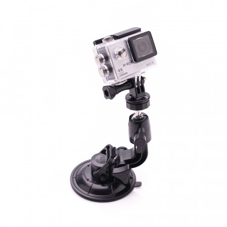 Suport cu ventuza pentru camera video sport compatibil GoPro - Produs resigilat