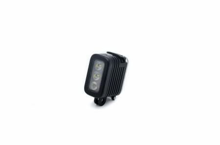 Accesoriu Camera Sport Lampa Subacvatica 4 - Bateria detasabila, Lampa LED este realizata din plastic si metal, Negru