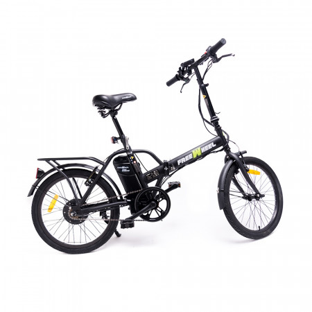 Bicicleta Electrica FreeWheel EBike Urban Negru - Autonomie 20-25km Viteza 25km/h Motor 250W
