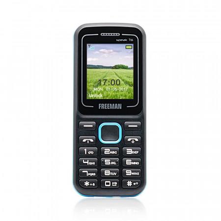 Telefon mobil Barphone Freeman T135 - TFT Dual SIM Bluetooth Negru Albastru