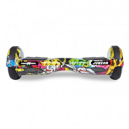Scooter electric (hoverboard) Freewheel Junior - Graffiti galben - Produs resigilat
