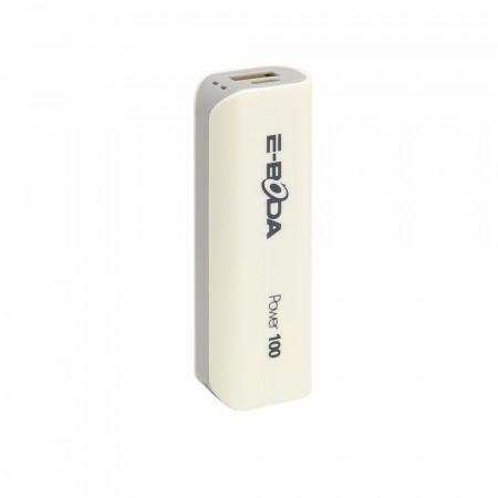 Baterie externa Power100 E-Boda 2000 mAh alb/gri - produs resigilat