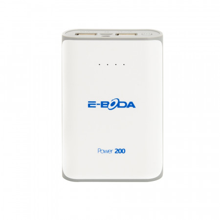Baterie externa Power200 E-Boda dualpower 6000 mAh alba - produs resigilat