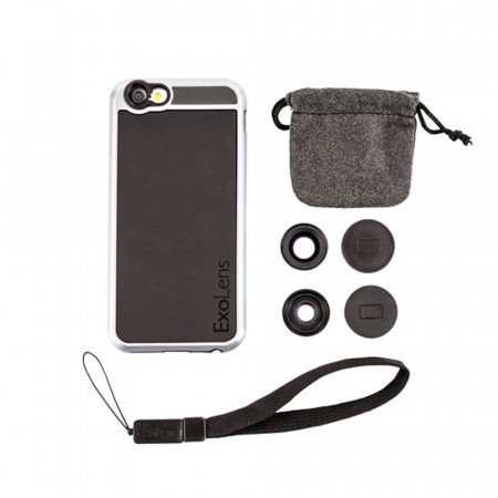 Kit Lentile Smartphone 2-in-1 Wide/Macro 13X si carcasa pentru IPhone 6/6s