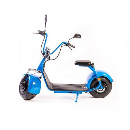 Moped Electric FreeWheel City Rider - Autonomie 40-60 Km 40 km/h Motor 1000W Albastru