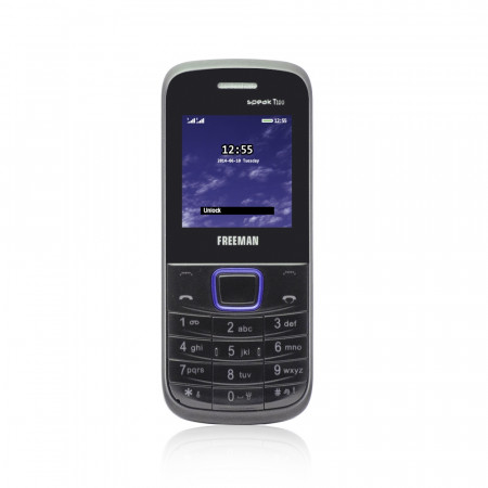 "Telefon mobil barphone Freeman 1,8"" T100 negru/albastru Dual SIM - produs resigilat"