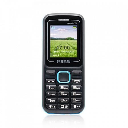 Telefon mobil Barphone Freeman T135 - TFT Dual SIM Bluetooth Negru Albastru - Produs Resigilat