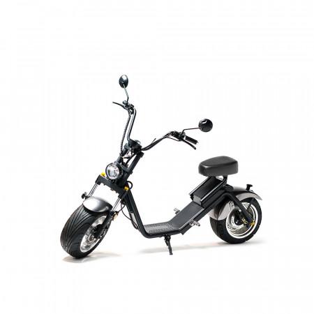 Moped Electric FreeWheel MotoRo S1, Autonomie 40 Km Viteza 45 Km/h Omologat RAR Motor 1200 W, Negru / Gri