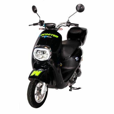 Moped Freewheel E-Scooter Mine Plus, Omologat R.A.R, Motor Bosch 800W, Autonomie pana la 70Km, Viteza maxima 45Km/h, Negru