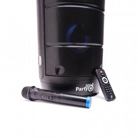 Produs Resigilat - Boxa Portabila E-Boda Party 200 cu Microfon Telecomanda Bluetooth Intrari Aux 3.5 USB TF Card