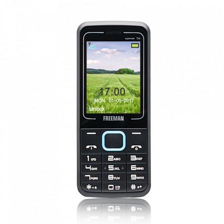 "Telefon mobil barphone Freeman Speak 2,4"" T205 Dual SIM - albastru - Produs Resigilat"