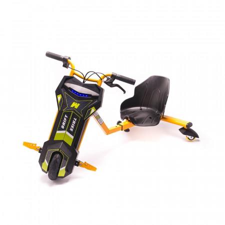Tricicleta Electrica Freewheel Drift Trike Super Power - Autonomie 12-15 Km 15 Km/h Motor 250W Portocaliu - Produs Resigilat
