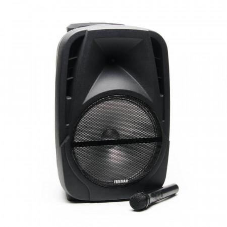 Boxa Portabila Freeman Karaoke 1001 - Microfon Telecomanda Bluetooth USB SD Negru