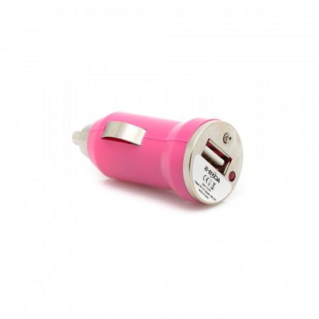 Incarcator auto USB 5V/1A CML 201 - roz - produs resigilat