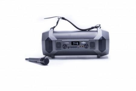 Produs Resigilat - Boxa portabila E-BODA The Vibe 400 Karaoke, RMS 23W, Bluetooth, USB, AUX, Radio FM, Microfon cu fir, Negru