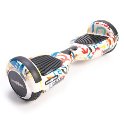 Scooter electric (hoverboard) Freewheel F1 - Graffiti Alb - Produs resigilat