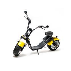 Moped Electric FreeWheel MotoRo S1, Autonomie 40 Km Viteza 45 Km/h Omologat RAR Motor 1200 W, Negru / Galben