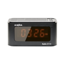 Produs Resigilat - Radio cu ceas digital E-Boda ER 100 - Multifunctional 6 in 1 Negru
