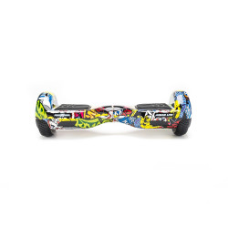Scooter Electric (Hoverboard) Freewheel Junior Lite - Graffiti Galben Autonomie pana la 12 km Viteza 12 km/h, Motor 2 x 200W Brushless