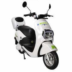 Moped Freewheel E-Scooter Mine Plus, Omologat R.A.R, Motor Bosch 800W, Autonomie pana la 70Km, Viteza maxima 45Km/h, Alb