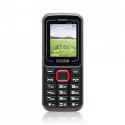 Produs resigilat - Telefon Mobil Freeman Speak T130 - Display TFT Dual SIM Bluetooth Negru Rosu