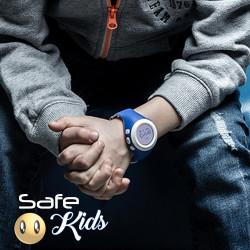 Smartwatch Safe Kids cu GPS SIM monitorizare copii albastru - Produs resigilat