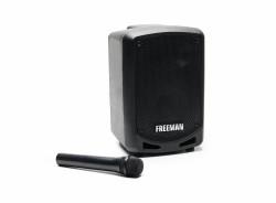 Produs Resigilat - Boxa Freeman Karaoke 1001 Mini cu microfon Bluetooth USB Radio FM TF Card Aux Mp3 player
