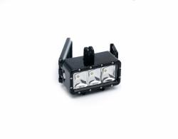 Accesoriu Camera Sport Lampa Subacvatica 2 - Bateria detasabila, Lampa LED este realizata din plastic si metal, Negru