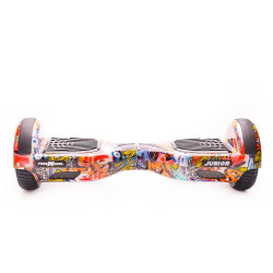 Scooter electric (hoverboard) Freewheel Junior - Graffiti albastru - produs resigilat