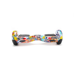 Scooter Electric (Hoverboard) Freewheel Junior Lite - Graffiti Albastru Autonomie pana la 12 km Viteza 12 km/h, Motor 2 x 200W Brushless