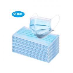 Set 50 buc, masca medicala, BFE, 3 straturi, unica folosinta, Albastra