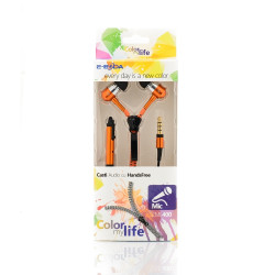 Casti handsfree E-Boda tip fermoar CML 400 portocaliu - Produs Resigilat