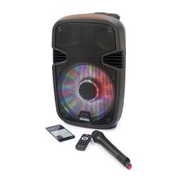 Boxa Portabila Karaoke 1000 - Microfon Telecomanda Bluetooth USB SD Negru - Produs Resigilat